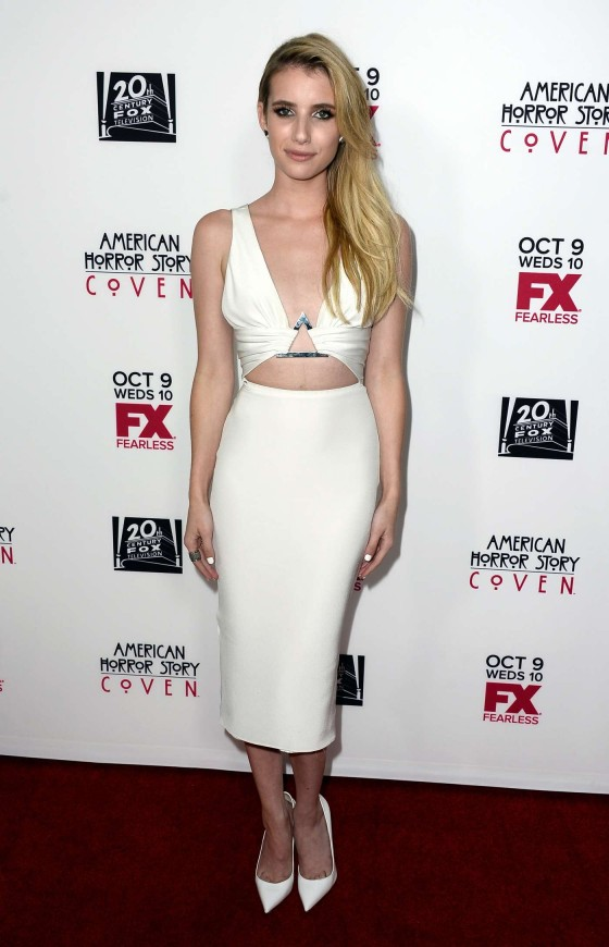Emma Roberts – American Horror Story Coven Premiere -01