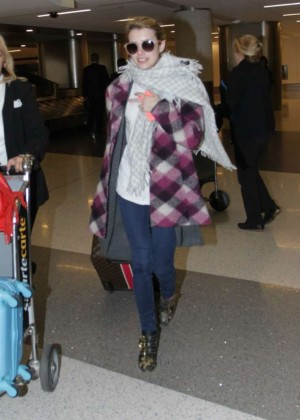 Emma Roberts at LAX in Los Angeles