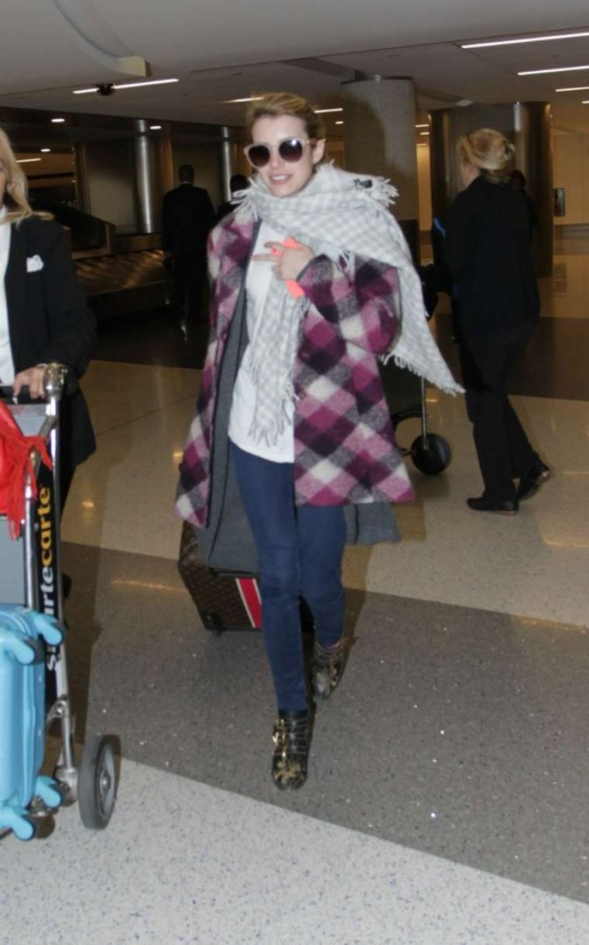 Emma Roberts at LAX in Los Angeles
