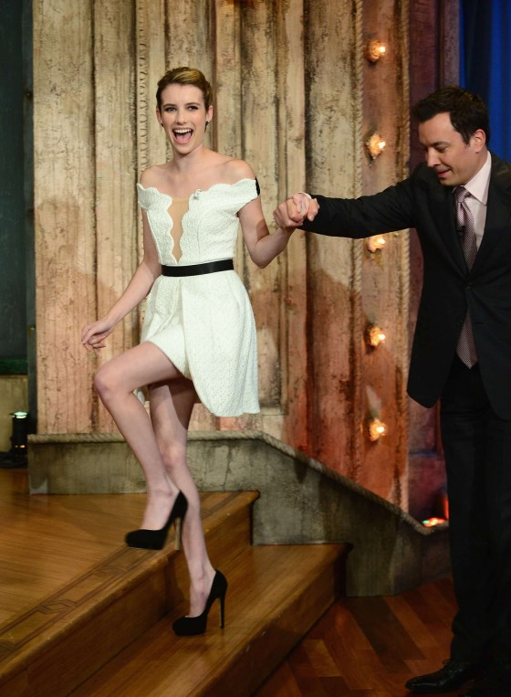 Emma Roberts – Late Night with Jimmy Fallon in New York