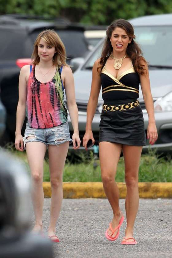 ��� Emma Roberts � On the set of �Empire State� in New Orleans 2012
