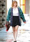 Emma Roberts - On the Set of Empire State-01