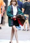 Emma Roberts - On the Set of Empire State-04