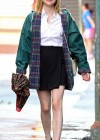Emma Roberts - On the Set of Empire State-05
