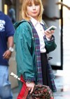 Emma Roberts - On the Set of Empire State-06