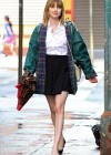 Emma Roberts - On the Set of Empire State-10