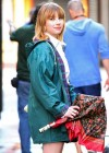 Emma Roberts - On the Set of Empire State-11