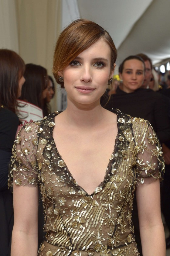 Emma Roberts – 2013 Elton John AIDS Foundation Academy Awards Party -02
