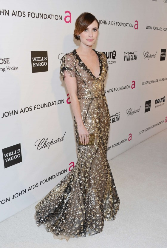 Emma Roberts – 2013 Elton John AIDS Foundation Academy Awards Party -04