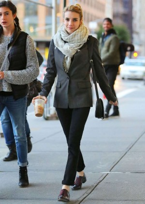 Emma Roberts in Jeans Out & About in New York City