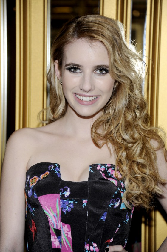 Emma Roberts at Versace For H&M Fashion Event-02