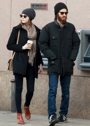 Emma Stone and boyfriend Andrew Garfield out in NYC