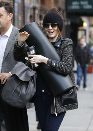Emma Stone - Arrives at Studio 54 in NYC