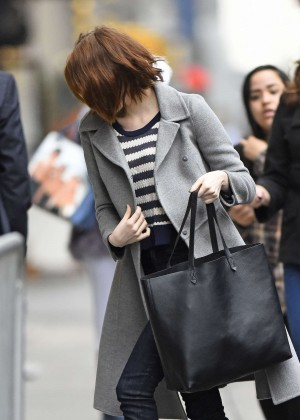 """Emma Stone Arrives for Day 2 of """"Cabaret"""" in New York City"""