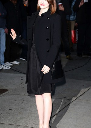 Emma Stone - Arriving at The Late Show with David Letterman in NYC