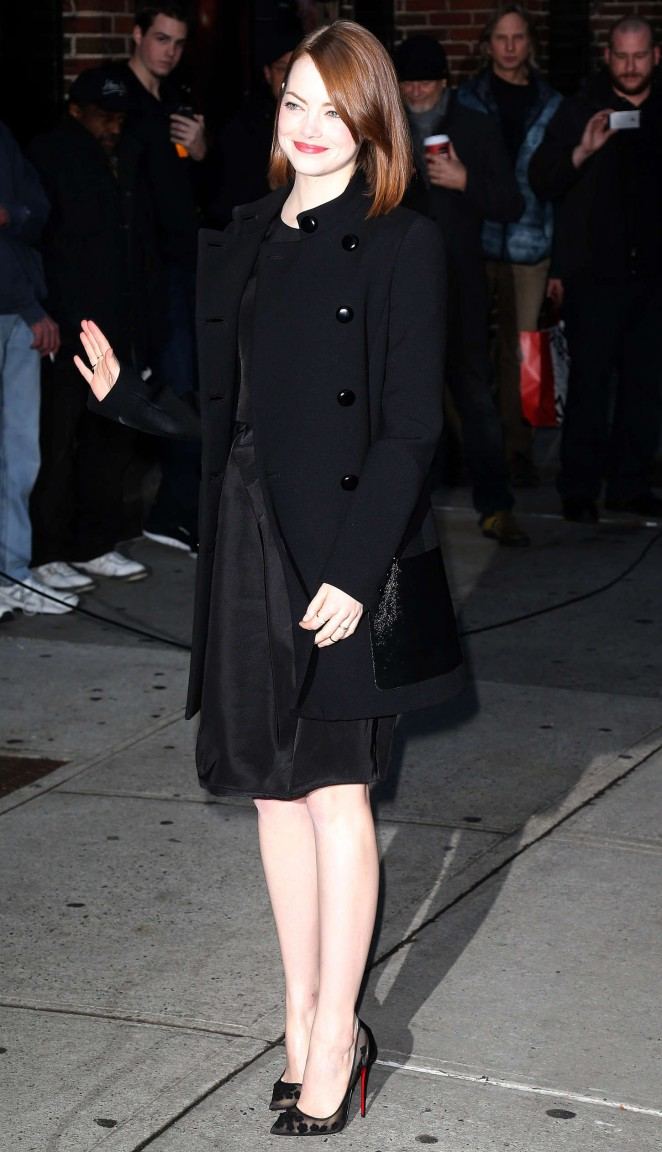 Emma Stone – Arriving at The Late Show with David Letterman in NYC