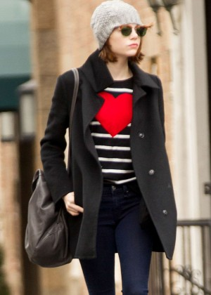 Emma Stone in Tight jeans Out in NYC