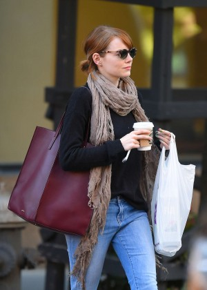 Emma Stone in Jeans out in NYC