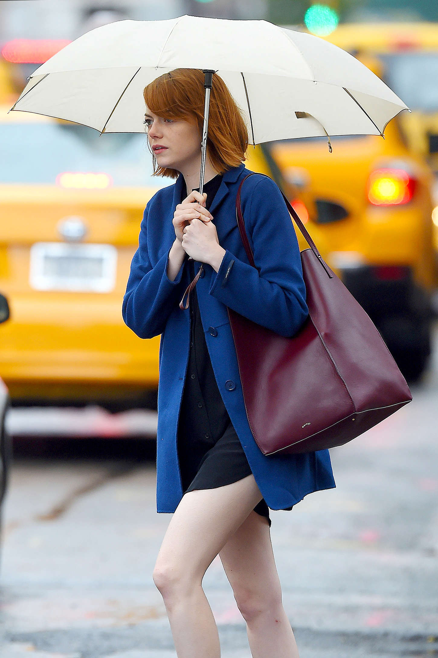 Emma Stone In Short Dress Out In Nyc Gotceleb
