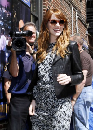 Emma Stone at Late Show with David Letterman -01