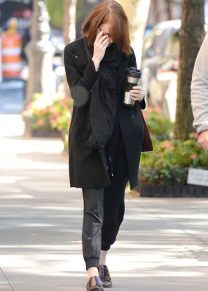 Emma Stone out in NYC