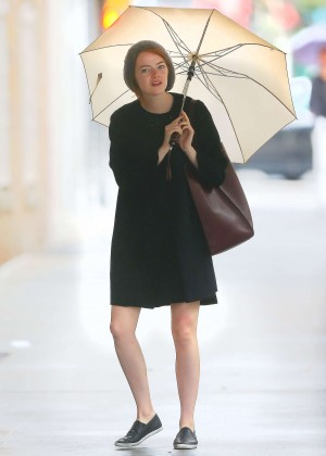Emma Stone Shows Her Legs out in NYC