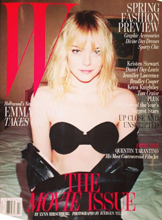 Emma Stone hot for W magazine - February, 2013 cover