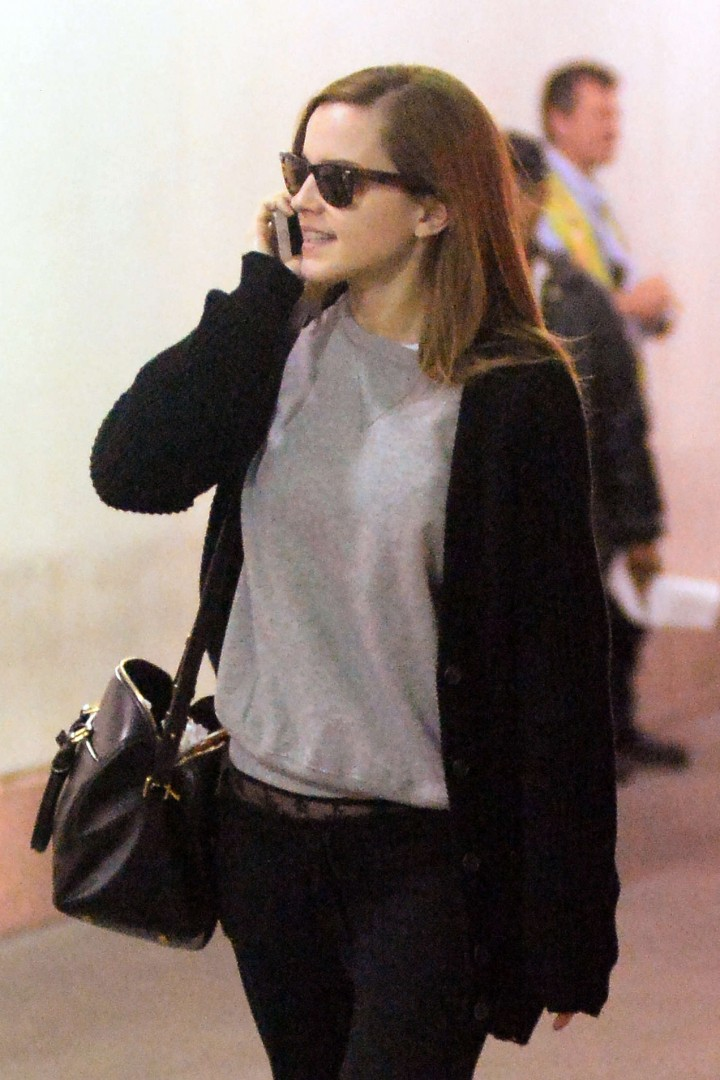 Emma Watson at JFK International Airport in NYC
