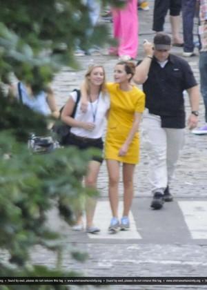 """Emma Watson - """"Colonia Dignidad"""" Set Pics at San Telmo in Argentina"""