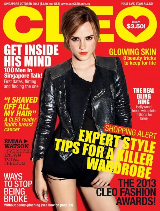 Emma Watson at Cover Cleo Magazine (October 2013) -01