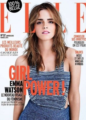 Emma Watson - Elle Belgium Magazine Cover (January 2015)