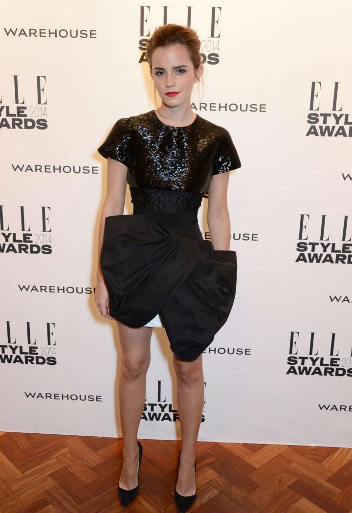 Emma watson elle 2014 style awards 01 gotceleb Emma watson fashion and style