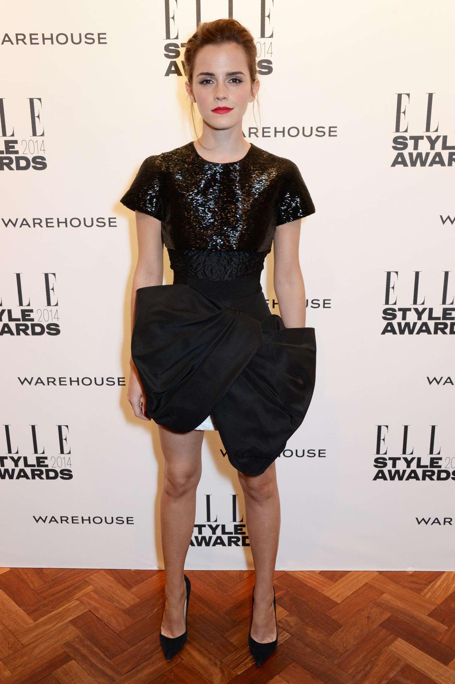 Emma Watson Elle 2014 Style Awards 10 Gotceleb