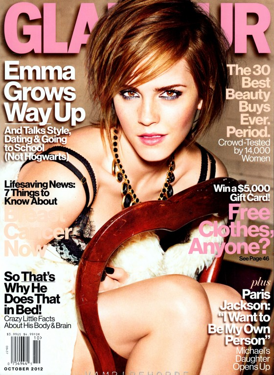 Emma Watson - Glamour US Magazine (October 2012 issue)