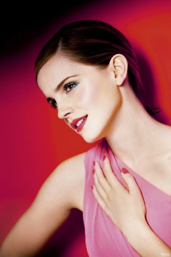 Emma Watson in photoshoot for Lancome's 2013 Campaign