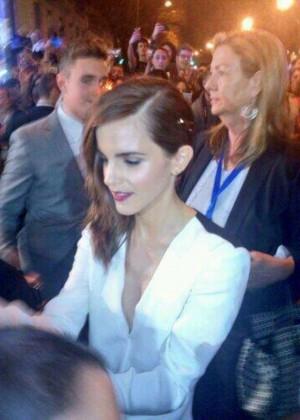 Emma Watson : Noah Madrid Premiere -12