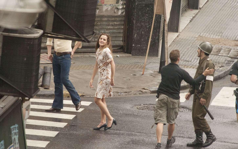 Emma Watson In Short Dress On Colonia Dignidad Set 04
