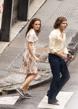 Emma Watson on the set of 'Colonia Dignidad' in Buenos Aires
