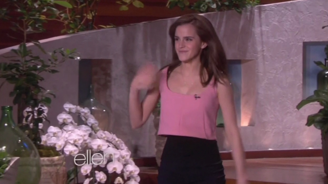 Emma Watson On The Ellen Show -02 | GotCeleb