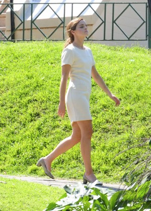 Emma Watson in Mini Dress Filming 'Colonia Dignidad' in Buenos Aires