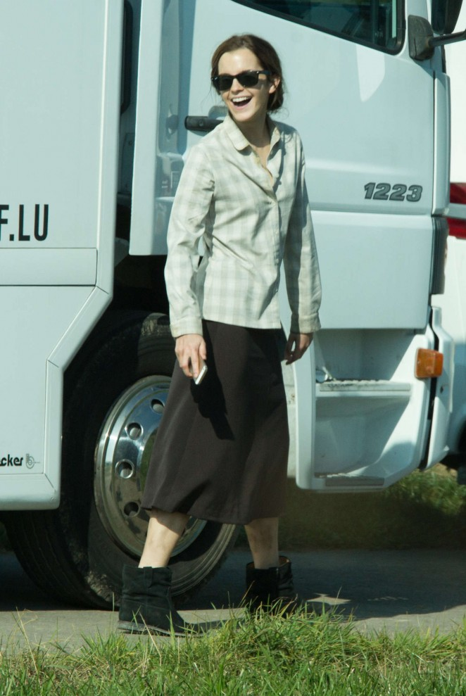 """Emma Watson - Filming """"Colonia Dignidad"""" Movi Set in Luxembourg"""