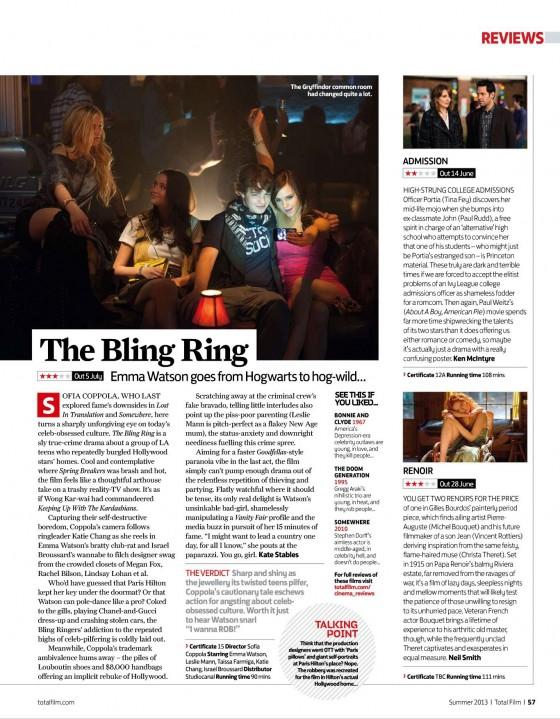 Emma Watson – Total Film Magazine 2013 -02