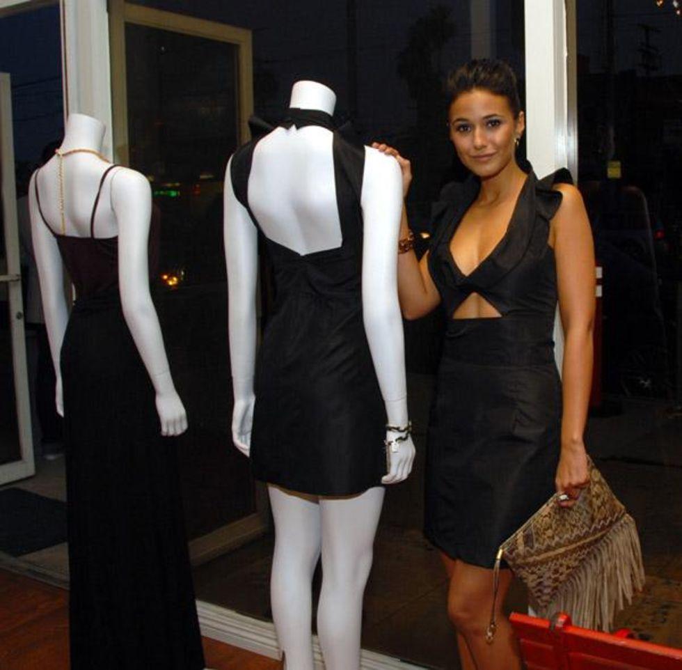 Emmanuelle Chriqui 2010 : emmanuelle-chriqui-cleavage-at-alexx-jae-milk-fw10-collection-launch-party-2010-11