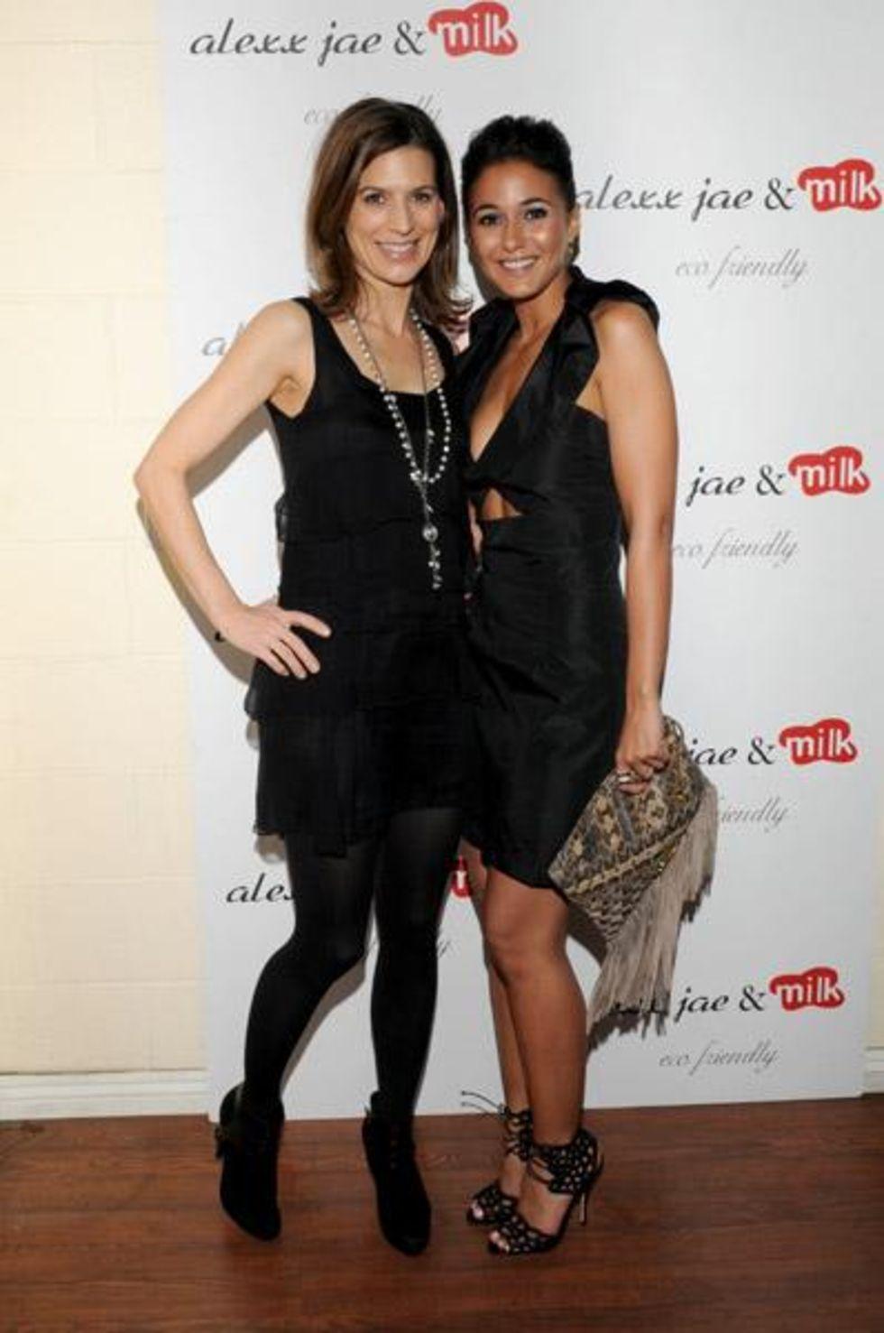 Emmanuelle Chriqui 2010 : emmanuelle-chriqui-cleavage-at-alexx-jae-milk-fw10-collection-launch-party-2010-19
