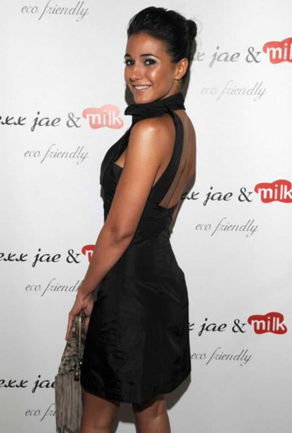 Emmanuelle Chriqui 2010 : emmanuelle-chriqui-cleavage-at-alexx-jae-milk-fw10-collection-launch-party-2010-23