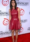 Emmanuelle Chriqui - In Leather Dress at The Mentalist 100 Episode Celebration