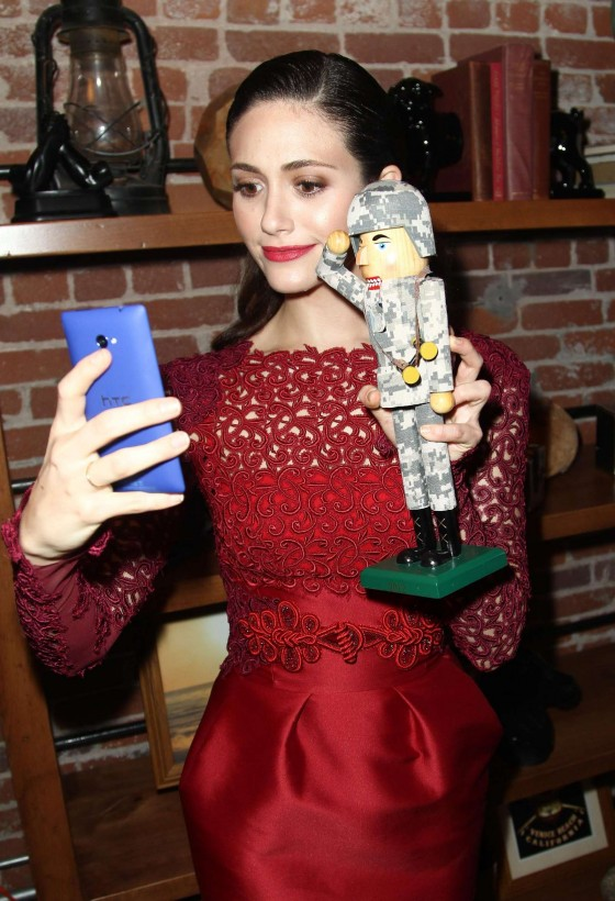 Emmy Rossum - 2012 Microsoft All Access Holiday Party in Venice