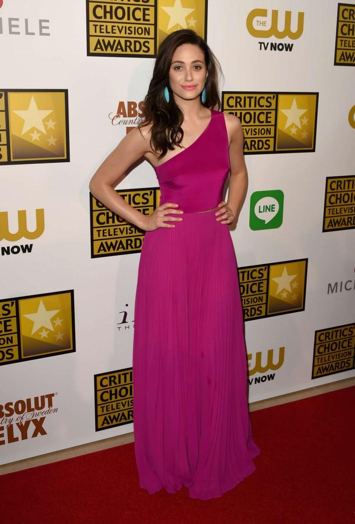 Emmy Rossum pink longh dress-09 - GotCeleb Emmyschoice