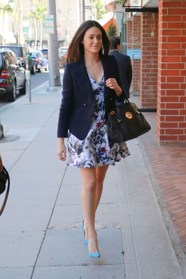 Emmy Rossum - Arrives at a Nail Salon in Beverly Hills