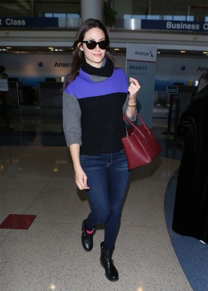 Emmy Rossum - Arrives at LAX airport in Los Angeles